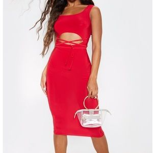 PrettyLittleThing Dresses - Pretty little thing red midi dress